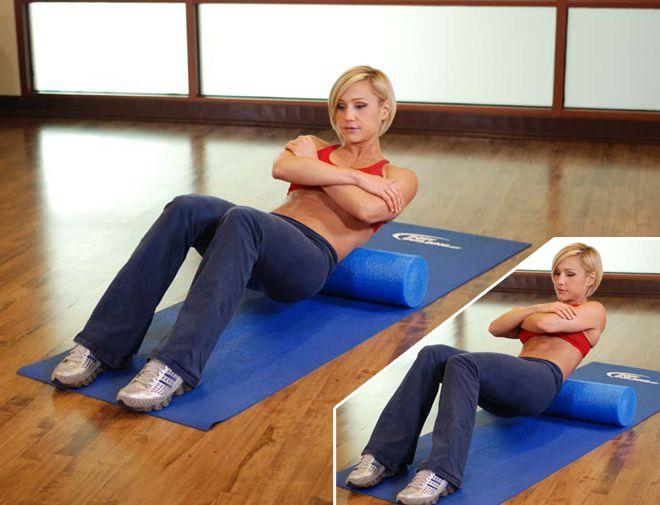 упражнения с валиком для спины