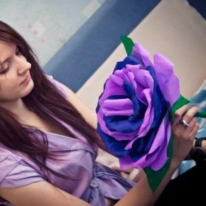 Róże z papieru falistego17