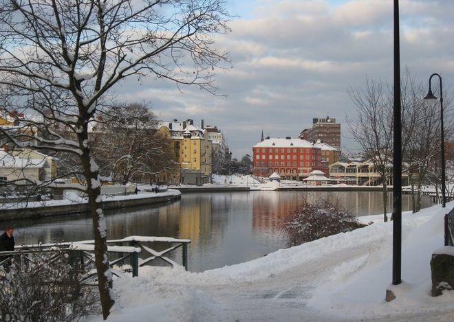 Зима в Седертелье