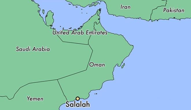 Салала на карте