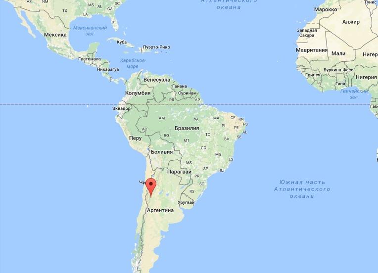 Сан-Хуан на карте мира