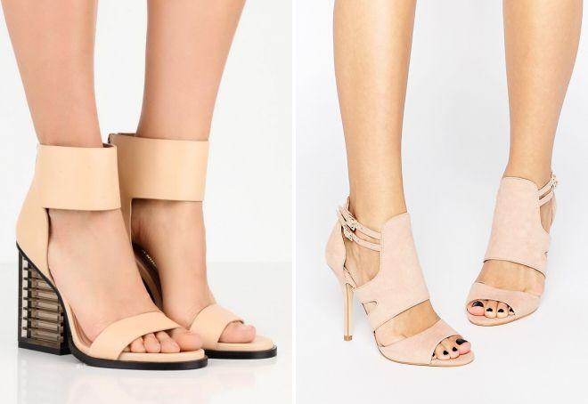 красивые босоножки на каблуке 2017