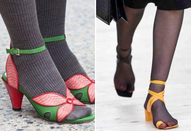 какую обувь нельзя носить с колготками