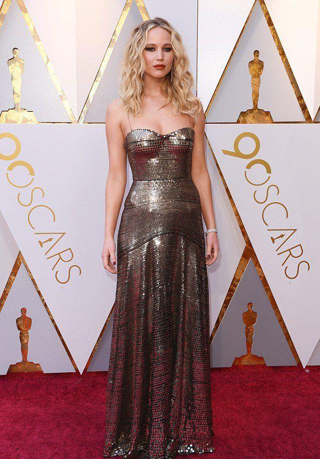 Дженнифер Лоуренс на «Оскаре 2018»