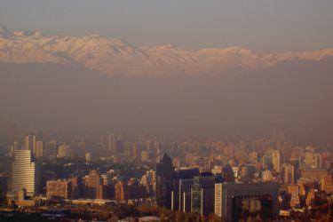 Сантьяго - смог над городом