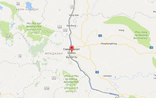 Саваннакхет на карте
