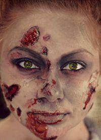 straszny makijaż na halloween1