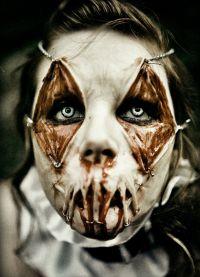 straszny makijaż na halloween3