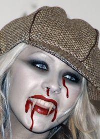 straszny makijaż na halloween4