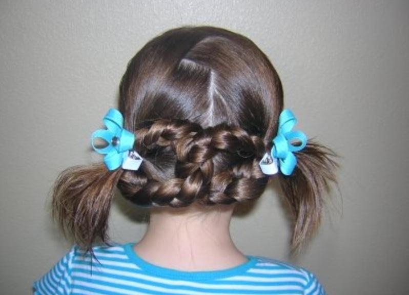školske frizure za djevojčice na dugoj kosi