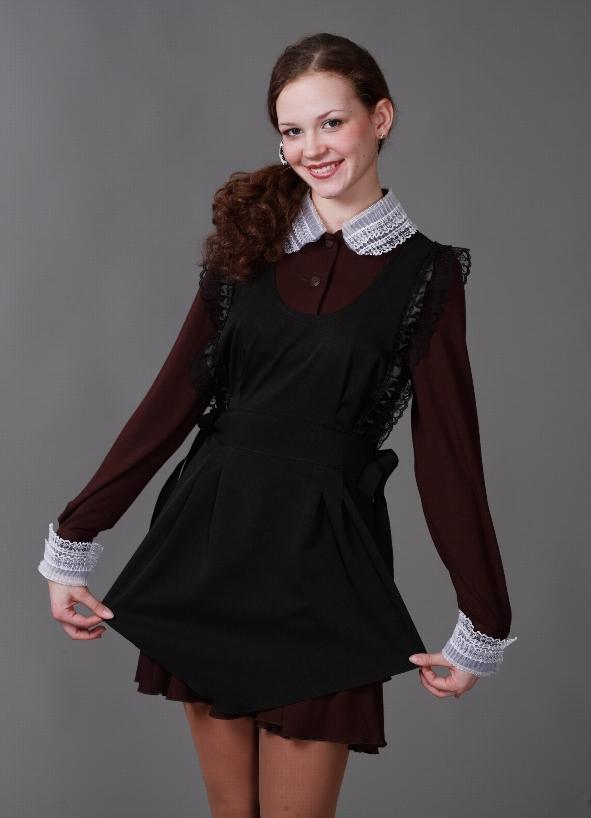 Školska uniforma s pregačom za učenike srednjih škola10