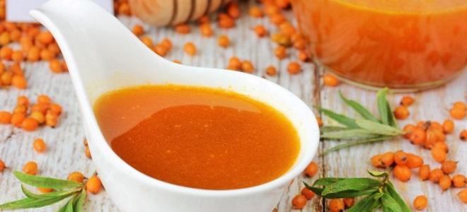 Sea buckthorn sirup za zimo - preprost recept