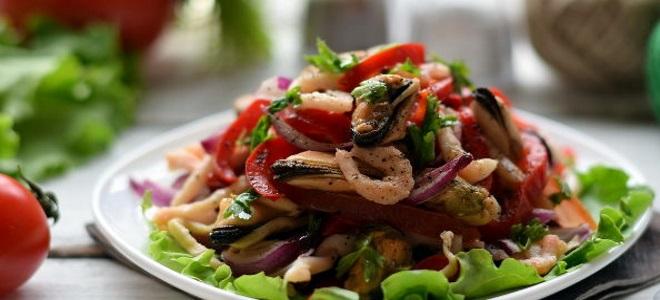 коктел морске хране на корејском