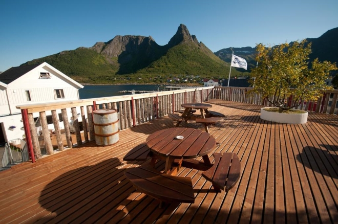 Ресторан комплекса Mefjord Brygge - один из лучших на острове
