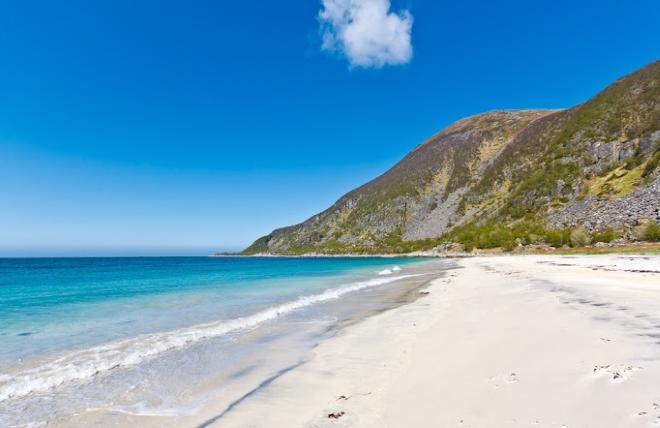 Побережье похоже на пляжи тропических стран