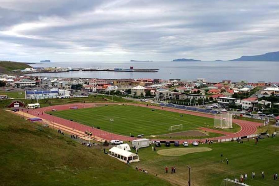 Футбольное поле в Сейдауркроукюр