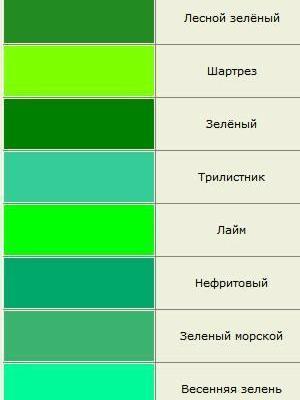 odcienie koloru 10