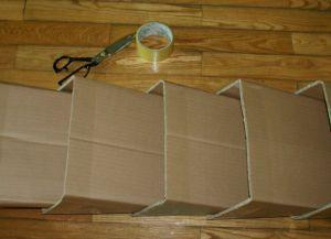 jak zrobić półkę na buty z pudełka3
