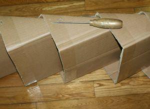 jak zrobić półkę na buty z pudełka5