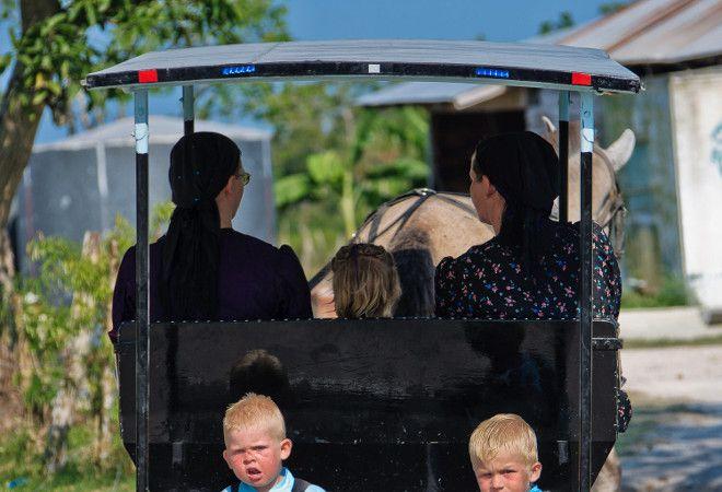 Повозка с местными жителями