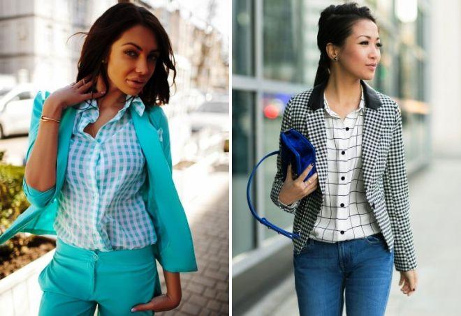 košulje u kavezu i jaknu