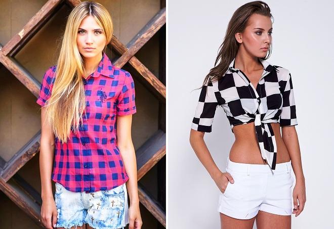 moderna košulja za djevojčice u kavezu