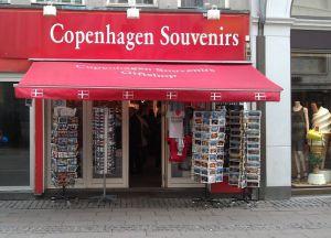 Магазин сувениров в Копенгагене