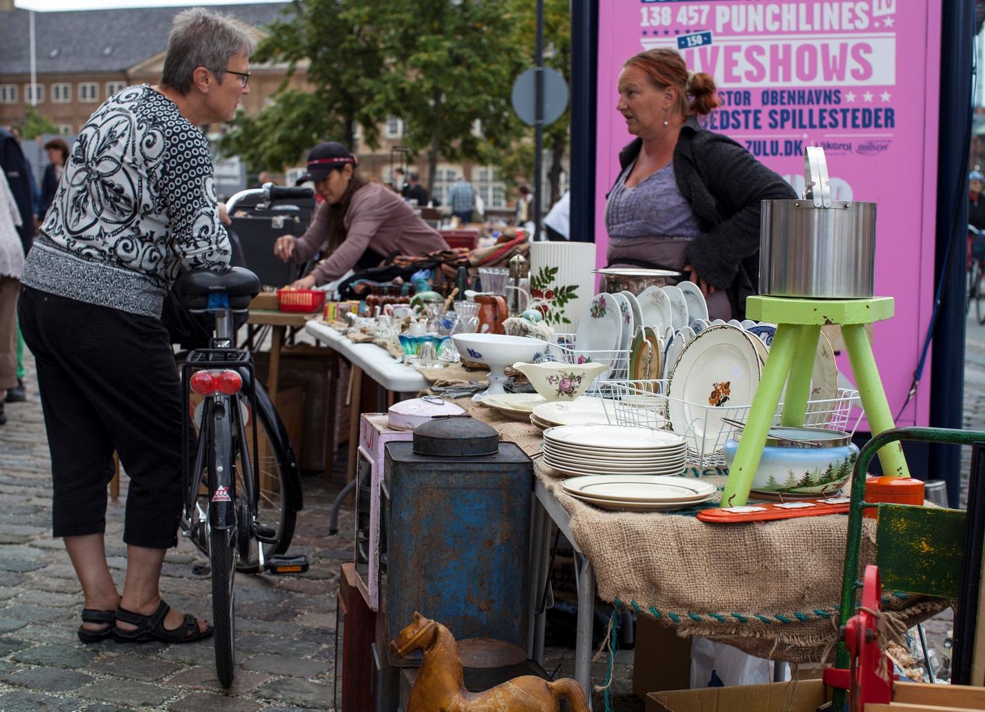 Старинный блошиный рынок на Israel Plads
