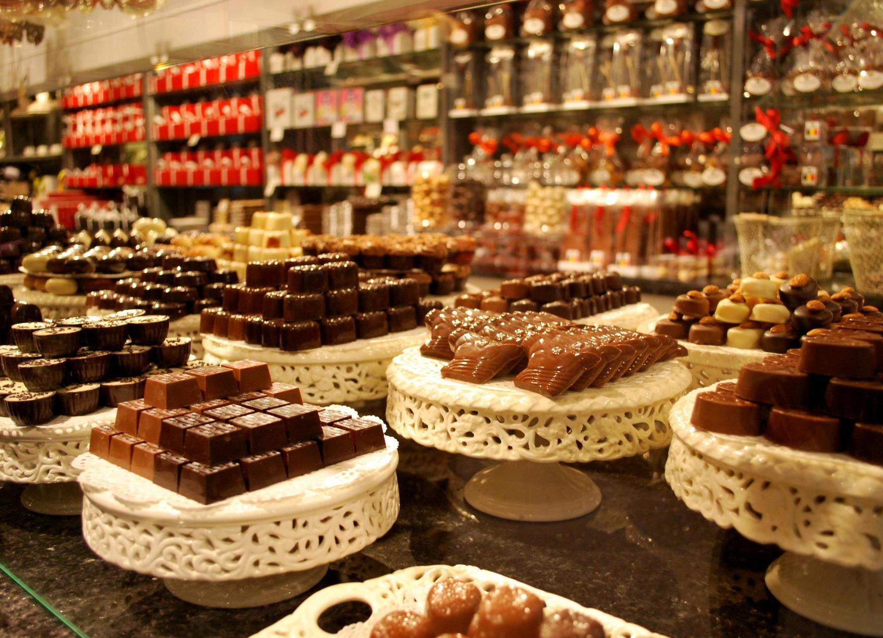 Шоколад - популярный сувенир из Гента