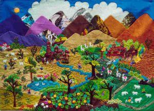 Текстильные картины Arpilleras