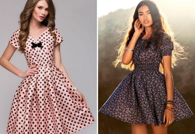 короткие пышные платья 2017