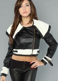 kratka kožna jakna za žene 4