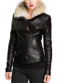 Ženska kratka kožna jakna 2