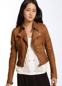 Ženska kratka kožna jakna 3