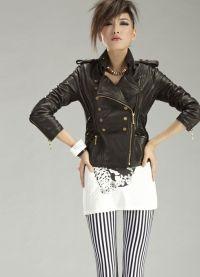 Ženska kratka kožna jakna 4