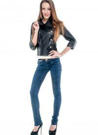 Ženska kratka kožna jakna 7