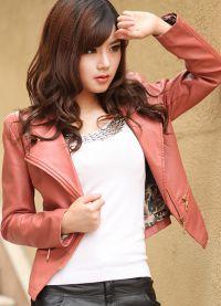 Ženska kratka kožna jakna 8