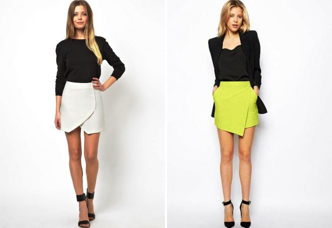 летние короткие юбки