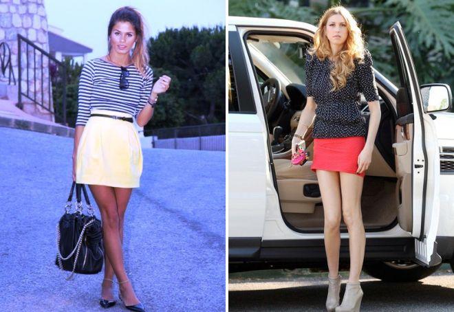 стильные короткие юбки