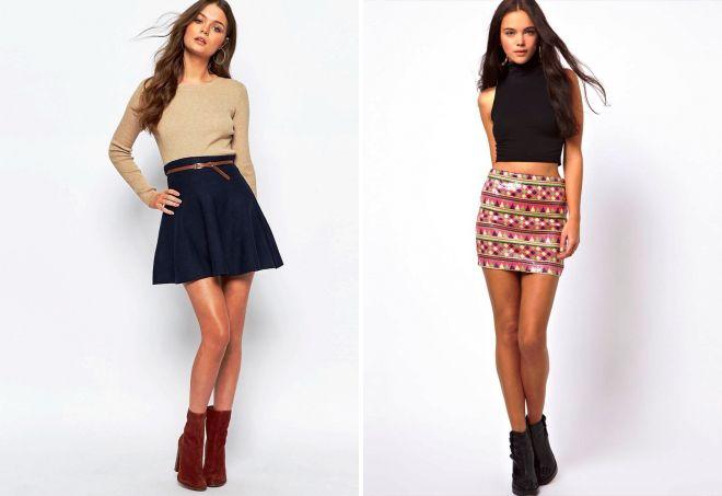 короткие мини юбки