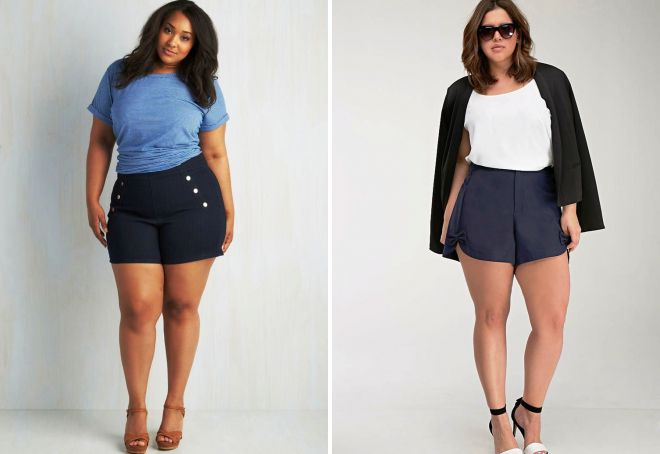 короткие шорты для полных девушек