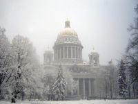 Zabytki St. Petersburg w winter2