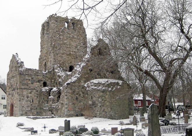 Руины церкви Святого Олафа