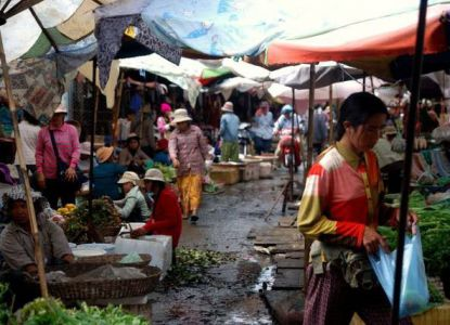 Рынок Phsar Leu ряды
