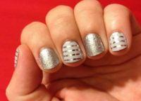 srebrny manicure 6