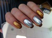 srebrny manicure 7