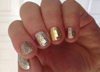 srebrny manicure 8