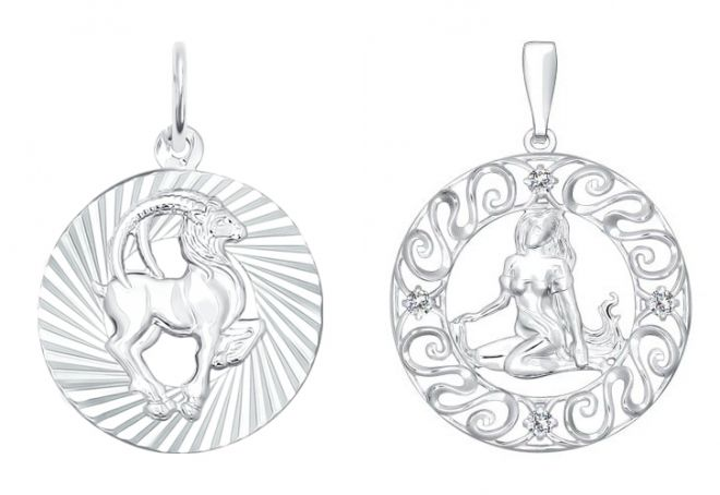 подвески знаки зодиака из серебра