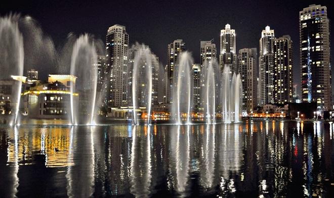hudební fontány v dubaji