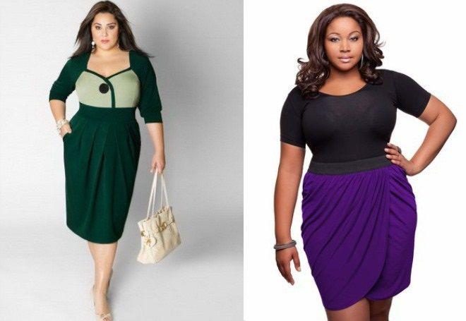 stylové sukně pro obézní ženy